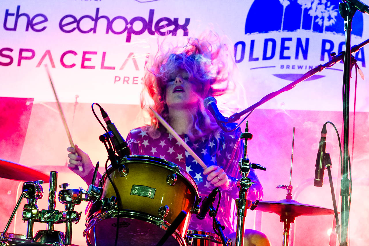 Deap Vally Echo Park Rising Stage Costumes by Michelle Rose Photo by Buzzbands LA